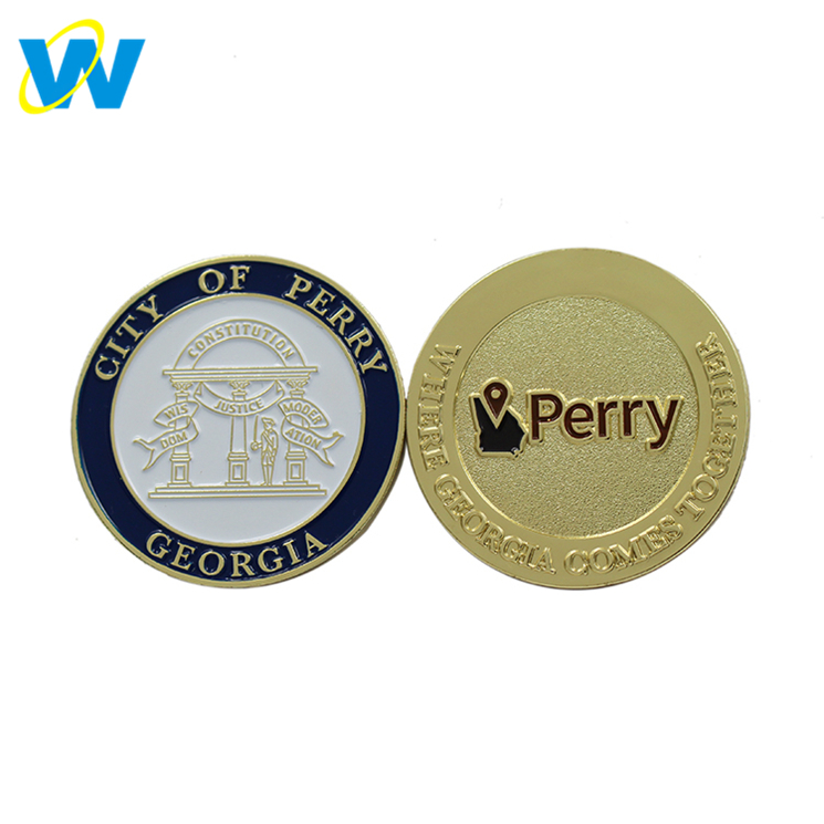 Gold /Silver/Copper or Antique Plating Two Side Custom Coin