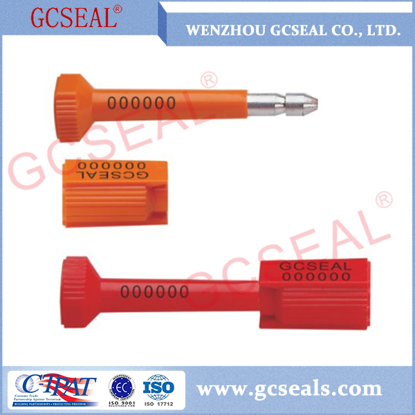 GC-B012 Finger press High Security Tamper Proof Bolt Seal For Cargo Shipping