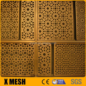 Plain weave brass screen mesh for decoration