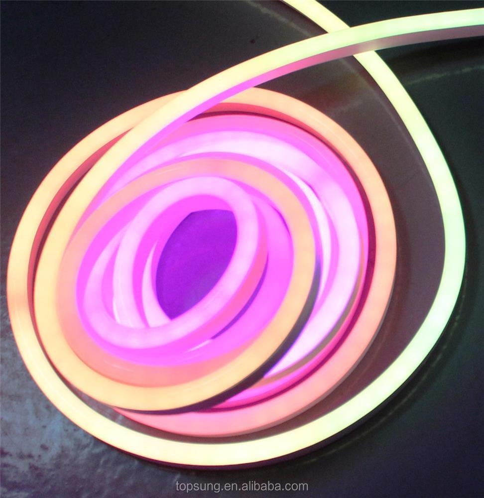 50m spool 24v digital dmx controlled led neon flex tube light Color Changing Shenzhen factory