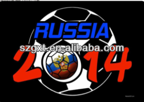 2014 World Football Cup Russia EL Sound-active T-shirts Panel