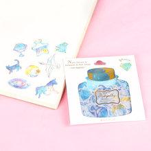 Корейские наклейки для дневника, сделай сам, 48 шт., наклейки для скрапбукинга карамельного цвета, Подарочные наклейки(Китай)