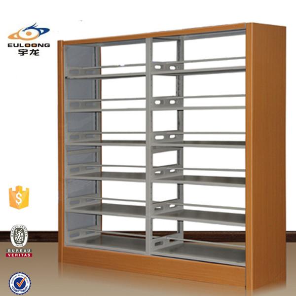 venta caliente de madera bordo guardia biblioteca estanteras de metal