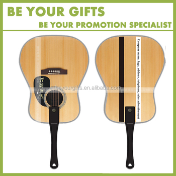 Custom PP Kids Hand Fan With Guitar Drawing Of Design