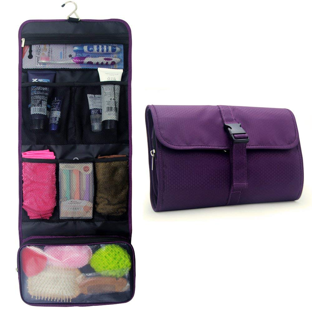 Get Quotations · Hanging Toiletry Bag,Travel Kit for Men and Women Waterproof  Wash Bag Compact Makeup Organizer e4a8303a9b
