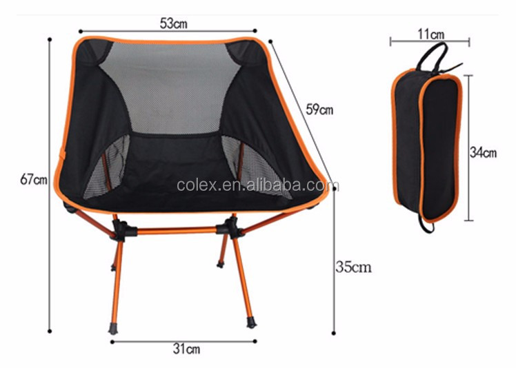 outdoor lumbar support lightweight portable folding camping chair