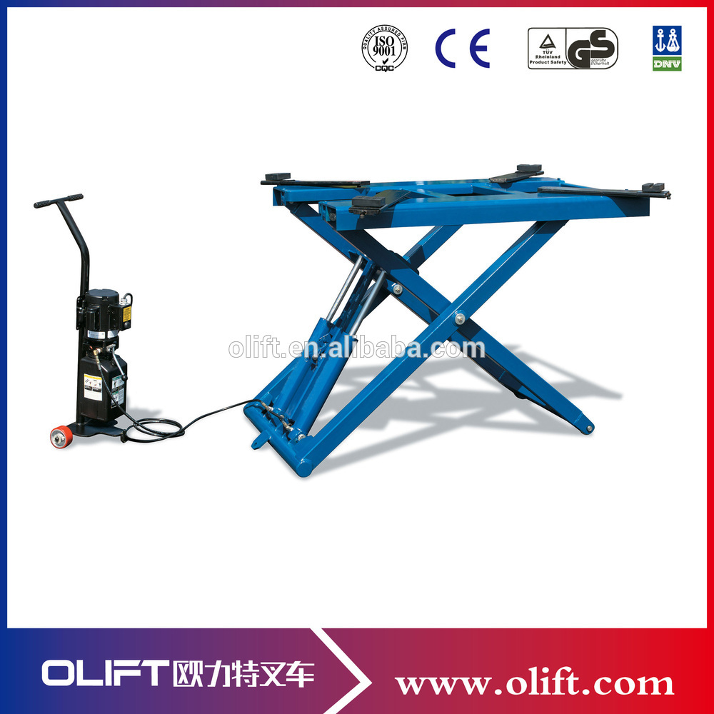 Double Cylinder Hydraulic Scissor Car Lift Hydraulic Car