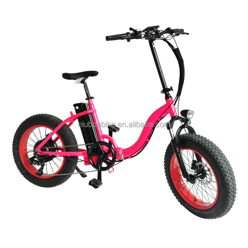Folding 20 inch 36V lithium battery women electric city bike