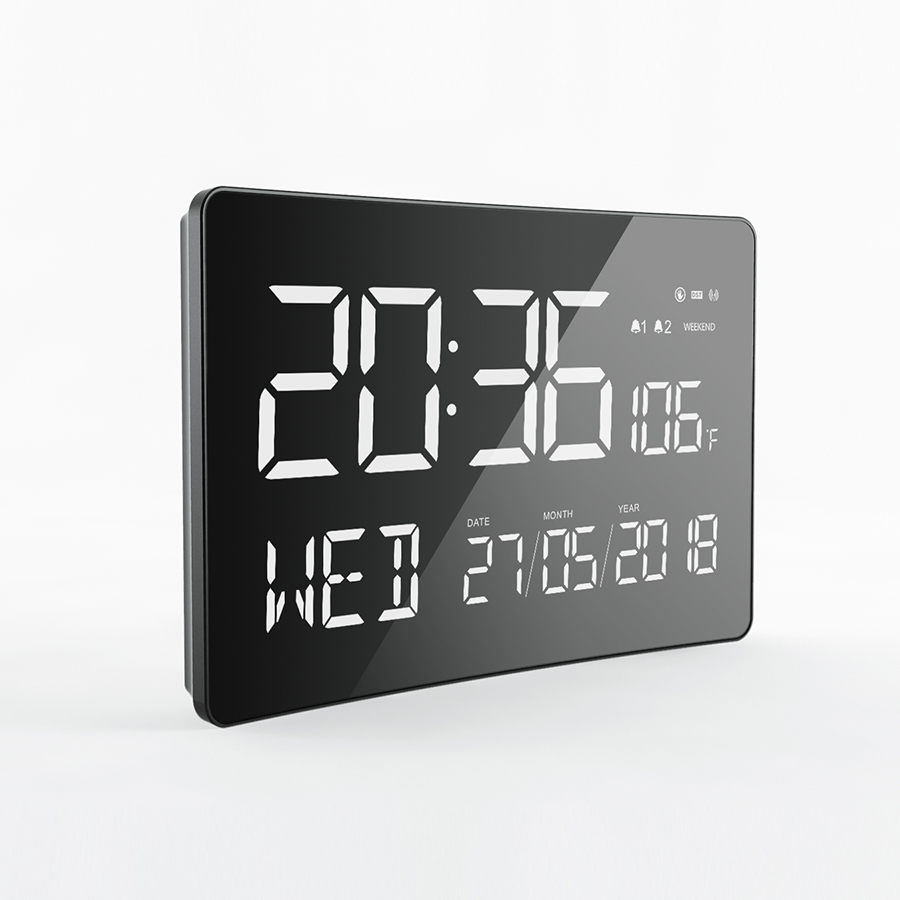 2019 LED alarm clock Jumbo display led Digital clock with temperature sensor for home decor / table use