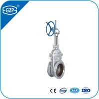 Industrial API Standard Cast Steel Materials hiding stem Flange connection Manual Gate Valve