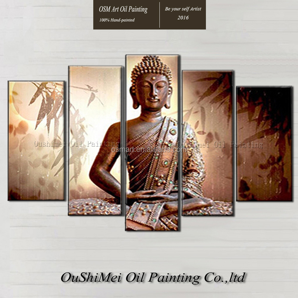 Artist Hand-painted High Quality Modern Abstract Buddha Oil Painting On Canvas Indian Buddha Canvas Painting For Living Room