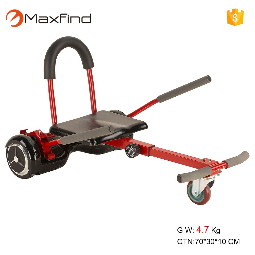 """MaxFind Maxfind Hover-Kart Accessories for 6.5"""" 8"""" 10""""Two Wheel Self Balancing Scooter, Not Noly STAND,Can be LIKE A GO-KART(Not Included Balance Board)(Red)"""