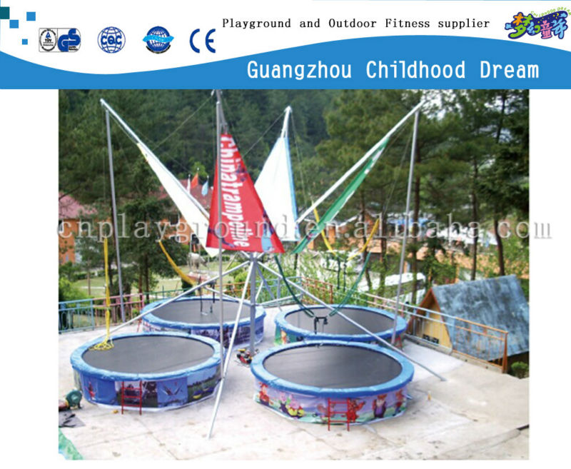 (HD-15005)Outdoor playground 4 players bungee trampoline price mini bungee jumping