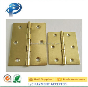 China factory price cabinet drawer butt hinge copper gold small hinges