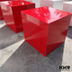 modern park bench red cube long bench stools