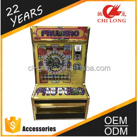 Frutero Slot Machine Wooden Case Fruit ROULETTE Machine LED Game Machine
