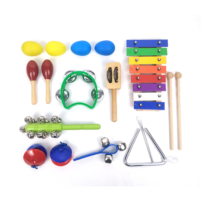 Kids wooden educational toys music instrument gift set for sale