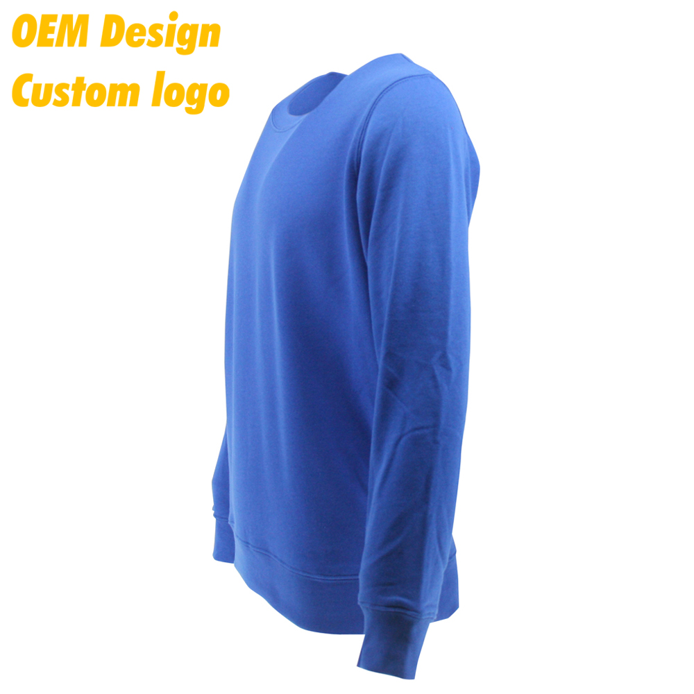 Customised Promotion Blank O Neck 100% cotton Long Sleeves men T-Shirt