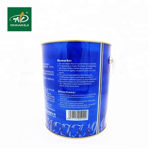 Clear epoxy resin marble granite stone silicone glue adhesive and hardner for tiles fixing and filling marble to metal