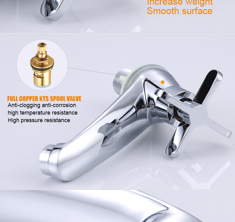 China Supplier Zinc Alloy Single Hole Bathroom Wash Basin Cold Water Faucet