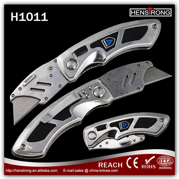 High Carbon Steel Blade Cutting Knife Own Patent Folding Pocket Utility Knife