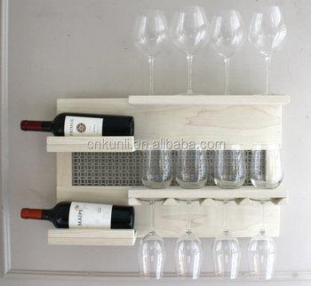 On Beautiful Decorative Wall Mounted Wine And Liquor Rack