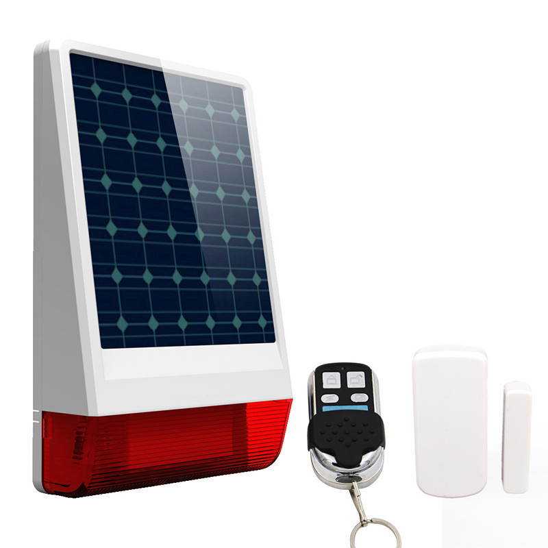 Wireless Solar Powered Siren with door sensor for Home <strong>Alarm</strong>
