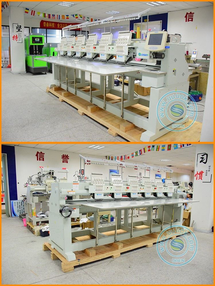 Factory outlet computer control automatic high speed hot fix rhinestone embroidery machine