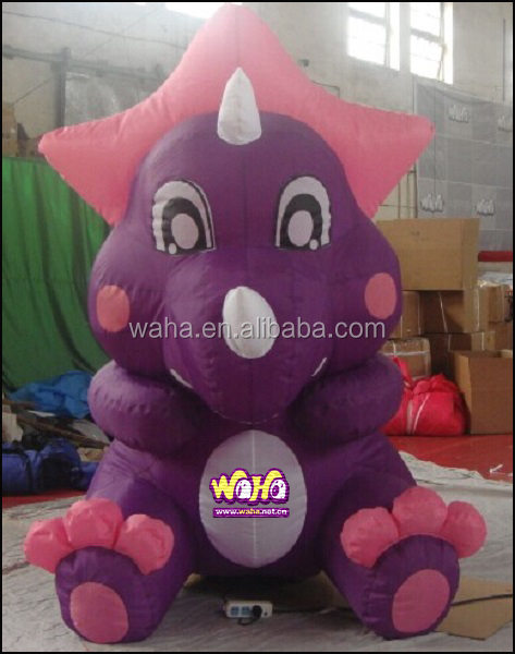 customized purple color mini inflatable dragon inflatable cartoon