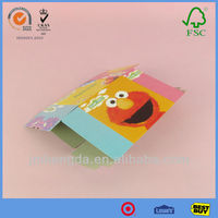 Custom design cute picture tissue packaging flat packed boxes for sale