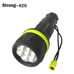high power plastic 7 LEDS disaster relief Flashlight torch