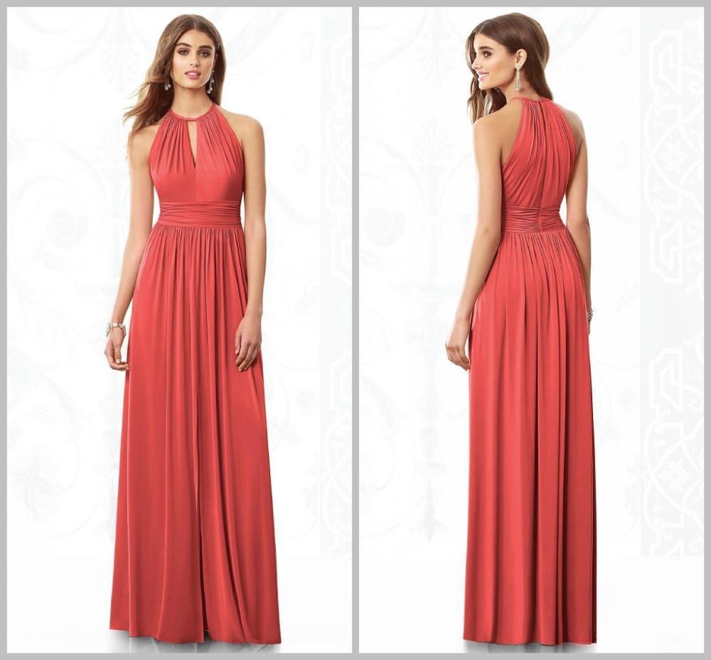 New Design Wedding Party Dress Promotion A Line Halter Off