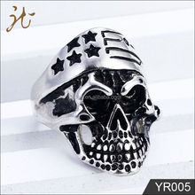 Fashion nice quality stainless steel skull ring jewelry