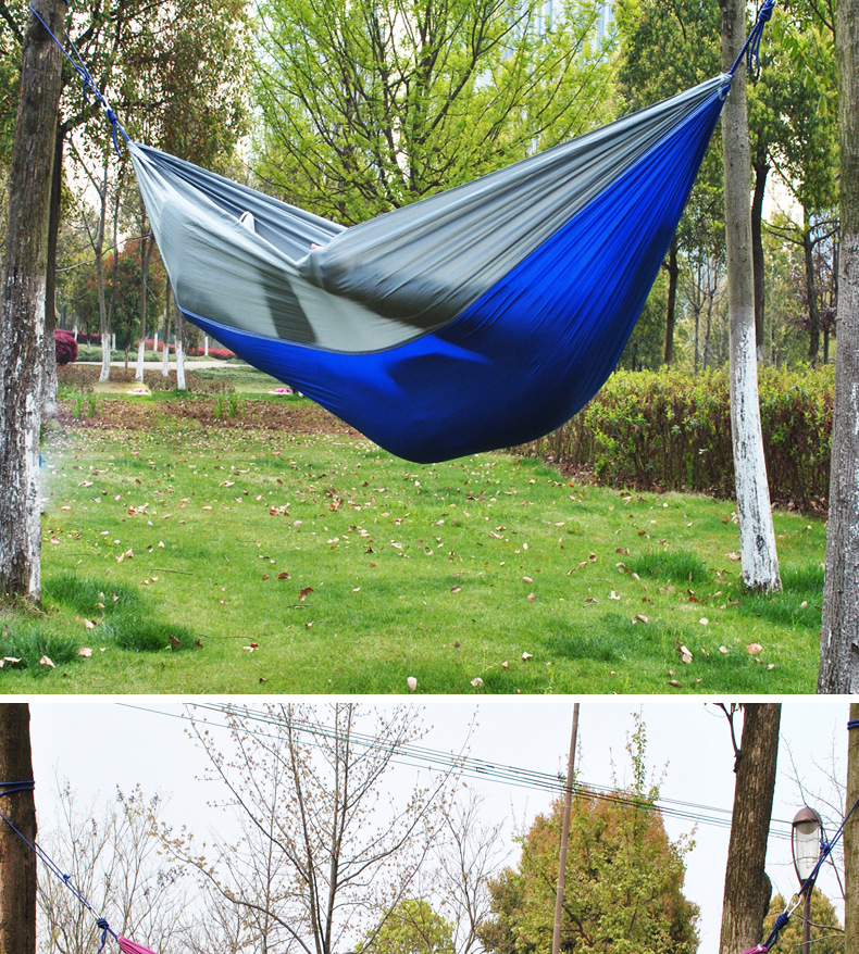Outdoor portable hammock stand camping parachute garden hammock tent chair  hanging chair indoor double hammock swing - Outdoor Portable Hammock Stand Camping Parachute Garden Hammock