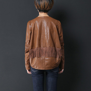0954b3022 Ladies Casual Brown Pu Leather Jacket - Buy Casual Pu Jacket,Tassel  Jacket,Synthetic Leather Jacket Product on Alibaba.com