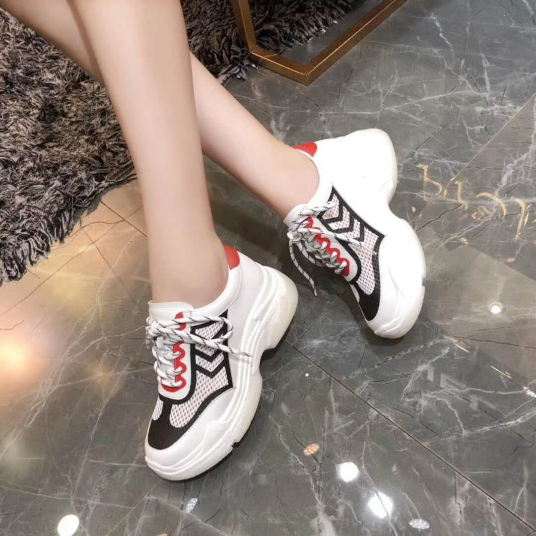 genuine color up mesh platform wholesale lace leather sneakers ladies assorted ventilate dqR11AOwx