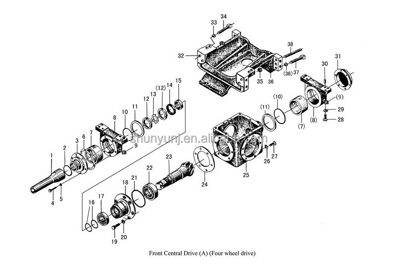 Tractor Front Axle Parts : Jinma dongfeng tractor parts front drive axle buy