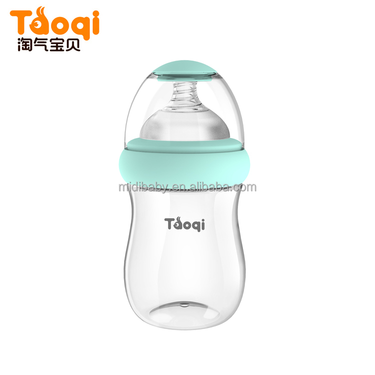 2017 Unique Innovative Wide Neck PP Baby Feeding Bottle 180ml
