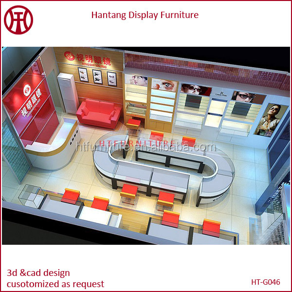 Top Ranking Professional 3d Max Optical Store Design For Luxury Glasses Shop