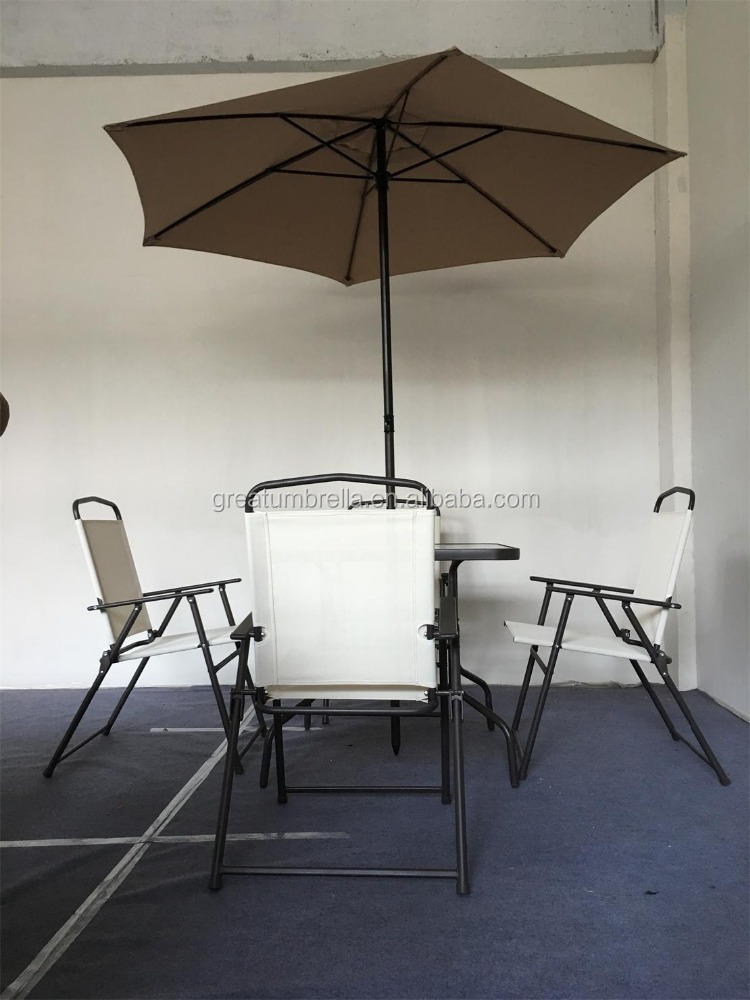 Outdoor Furniture Garden Pool Yard table With umbrella Hole in Middle