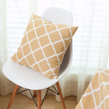 High Quality Europe Style Cushion Cover Modern Simple Diamond Pattern 60*60cm Cushion  Cover For Home Sofa