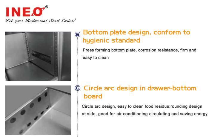 Restaurant Kitchen Stainless Steel Refrigerator Commercial