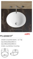 Undermount Bathroom Porcelain Vanity Sinks TTJ-2038S 17'' Round