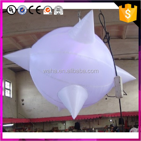 Factory directly supply!!!2017 new design nightclub decoration hanging star ball with led light/1m/1.5m/2m