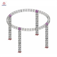 Easy install ceiling lighting truss system Round roof truss Aluminum circle truss