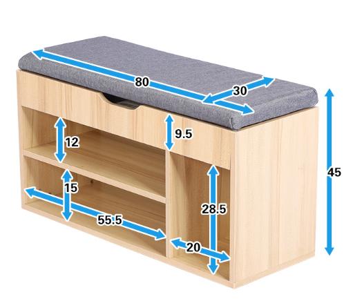 Moderna scarpiera in legno panca con cuscino del sedile sgabello di