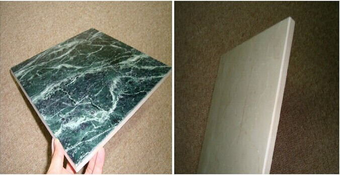 What is the chemical formula for marble?