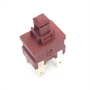Qijia high quality latched 4 pin vacuum cleaner power electric push botton switch for appliance