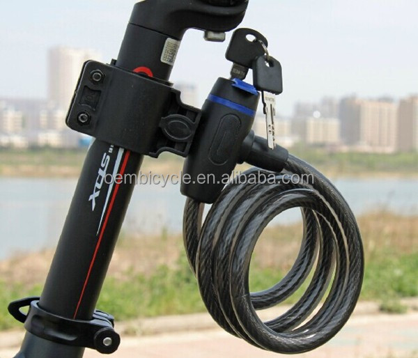 Wholesale cheap price bicycle steel cable lock