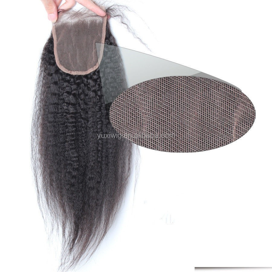 2016 3.5x4 Malaysian Kinky Straight Lace Closures 5A Virgin Remy Human Hair Free Part